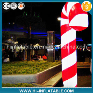 Best-Sale Christmas Use LED Light Inflatable Candy Cane Decoration pictures & photos