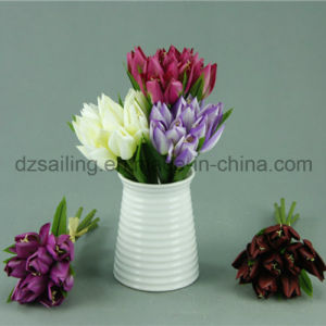 Decorative Artificial Tulip Bouquet Flower with Hand Drawing Color (SF11785)