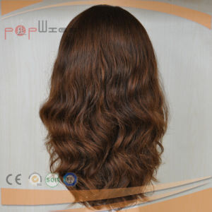 Auburn Color High End Skin Top Work Full Hand Tied European Hair Wig pictures & photos