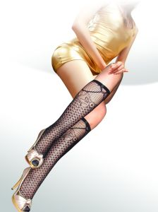 Floral Pattern Fishnet Knee High Stockings 8433-L pictures & photos