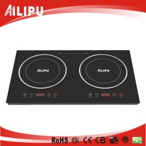 Whole Crystal Plate Plastic Housing Multi-Function Double Zone Induction Cooker 4kw pictures & photos
