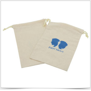 Screen Printed Cotton Drawstring Pouch and Cotton Bags pictures & photos