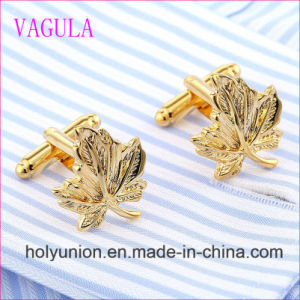 VAGULA Quality Hot Selling Brass Leaf Gemelos Cuff Links   (318) pictures & photos