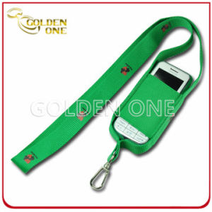 Customized Printed Nylon Fabric Lanyard for Mobile Phone Holder pictures & photos