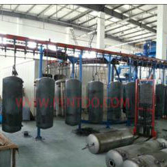 Water Heater Enamel Powder Coating Spray Line pictures & photos