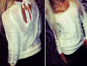 Hot Selling Fashion Hollow out Pullover Sweater Women (50197) pictures & photos