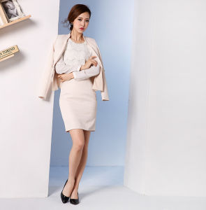 Made to Measure Fashion Stylish Office Lady Formal Suit Slim Fit Pencil Pants Pencil Skirt Suit L51611 pictures & photos