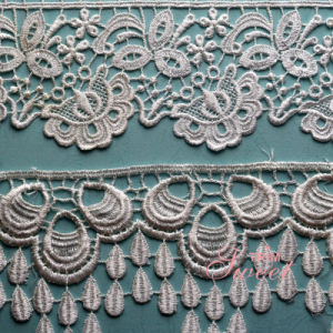 100% Polyester Water Soluble Embroideried Wedding Lace pictures & photos