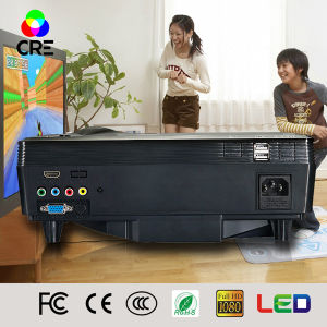 FCC Certificate Mini Home Theater 1500 Lumens LCD LED Projector pictures & photos