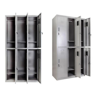 Discount Fitted 6 Door Storage Wardrobe with Mirror pictures & photos