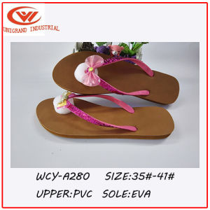 2016 Cute Design Bowknot Ladies′ Flip Flops pictures & photos