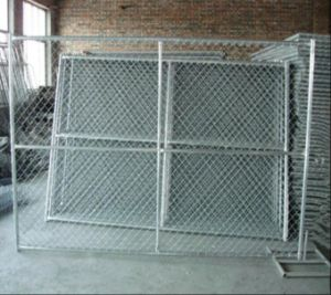 Temporary Chain Link Fence Panels Available Cross, Vertical, Horizontal Brace Chain Link Mesh Fence Panels pictures & photos