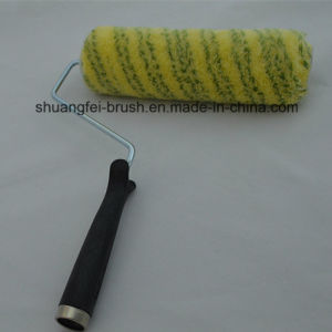 "9"" *4 Wire Roller Handle with Pile 18mm Green Stripe Yellow Base Acrylic Paint Roller for All Painting pictures & photos"