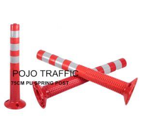 Orange Flexible Traffic Delineator Warning Bollard Pjwp101