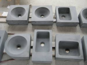 Custom Size Natural Stone Basalt Sink pictures & photos