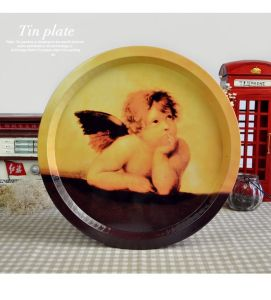 Round Beer Tin Serving Trays pictures & photos