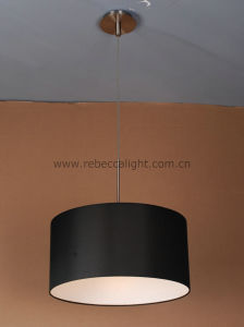 Residential Drum Shade Silk Fabric Pendant Lamp pictures & photos