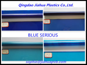 Serious Blue PVB Film for Decoration Laminated Glass pictures & photos