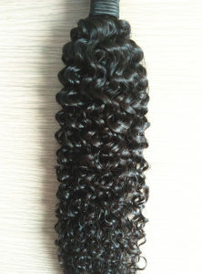8A Jerry Curl Natural Color Brazilian Virgin Hair Extensions pictures & photos