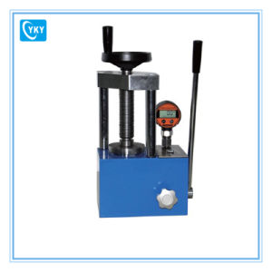 Laboratory Small Desktop Electric Hydraulic Press for Powder pictures & photos