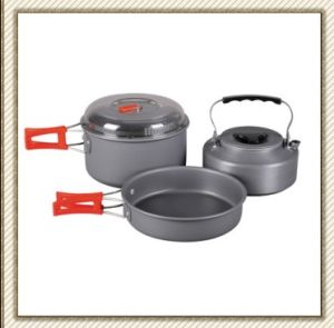 Winterial Camping Cookware and Pot Set (CL2C-DT1615-4) pictures & photos
