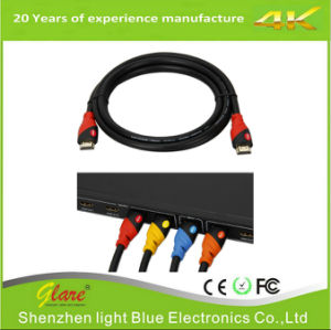 Support 4k*2k/60Hz Red/Black Color-Popular Color HDMI 2.0V Cable pictures & photos