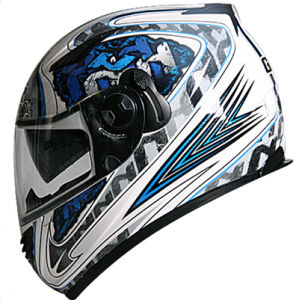 High Quality Double Visor Full Face Motorcycle Helmets ECE Certification pictures & photos