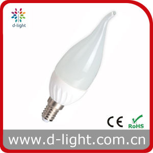 RoHS CE Cal37 E14 3W Ceramic Short Tailed LED Bulb pictures & photos