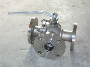 Ss304/316 Three-Way Flange Ball Valve 3 Piece pictures & photos