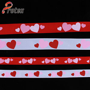 Yama Ribbon 1 Inch 25mm Plaid Folower Series Cheap Printed Grosgrain Ribbon pictures & photos