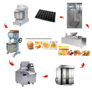 Automatic Cake Production Line for Making Cakes with 4000PCS Per Hour (CL-4000) pictures & photos