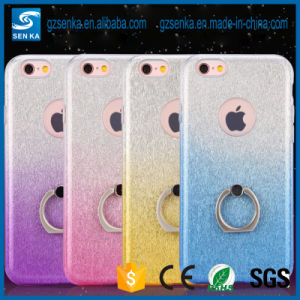Various Colors Glitter Powder Ring Kickstand TPU Case for Samsung Galaxy G9250 S7 Edge pictures & photos