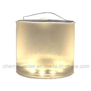 Portable Solar Lantern Rechargeable Foldable Inflatable Solar Lantern Camping Solar LED Light pictures & photos