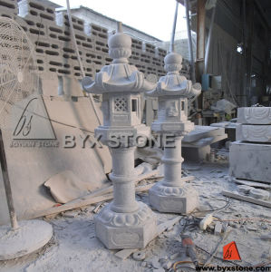Antique Grey Granite Garden Stone Lantern / Light Lamp pictures & photos