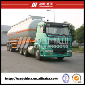 New42500L Carbon Steel Q345 Tank Trailer for Chemical Fluid Delivery (HZZ9405GHY) pictures & photos