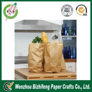 Eco-Friendly Printed Flexible Kraft Bread Paper Bag