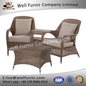 Well Furnir T-055 Refine Outdoor Love Seat with Table Synthetic Rattan Material pictures & photos