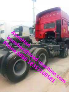Euro II 371 HP 6X4 Truck Prime Mover and Trailer 6 - Cylinder in Line Sinotruk HOWO7 2017new Model Red Color pictures & photos