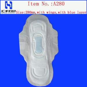 Sanitary Napkin with Blue Layer pictures & photos