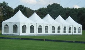 2013 Most Population High Peak Pagoda Tent 5X5m with Lining Decoration pictures & photos