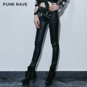 K-220 Fashion Female Gothic Punk Street Wear Leather Hot Pants pictures & photos