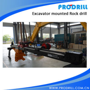 Pd28 Hydraulic Excavator Mounted Rock Drilling Rig for Borehole Drilling pictures & photos