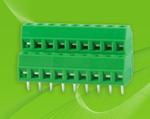 Screw Terminal Block with Dual Row Pin Header and Wire Entrance pictures & photos