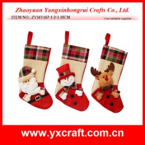 Christmas Decoration (ZY14Y635 30′′) Snowman Stocking Suit pictures & photos