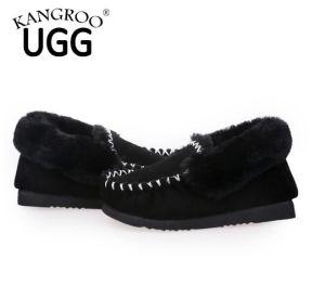 Classic Sheepskin Moccasin Women Men Shoes Black pictures & photos