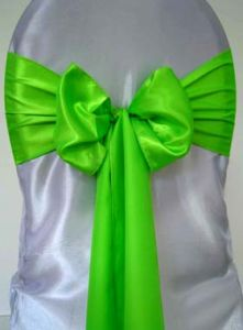 Cheap China Factory Satin Sashes for Chairs of Wedding pictures & photos