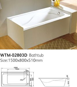 America Standard Acrylic Drop In Bathtub With Tile Flange