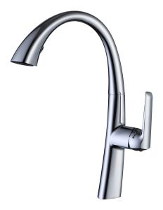 Kitchen Faucet Brushed Stainless Steel Single Handle Pull out Sprayer Kitchen Mixer Faucet pictures & photos