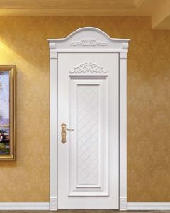 White Stylish Solid Wooden Door pictures & photos