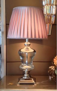 Phine 90203 Clear Crystal Table Lamp with Fabric Shade pictures & photos